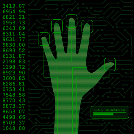 identity protection: security hand scanner