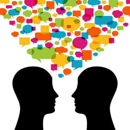 Menschen sprechen