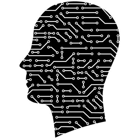 circuitboard: uomo astratto