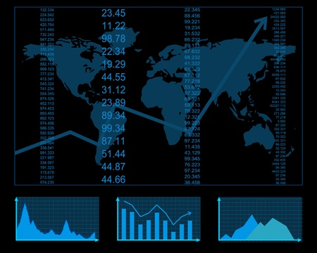 finance report Ilustração