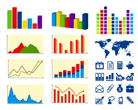 Business charts and icons