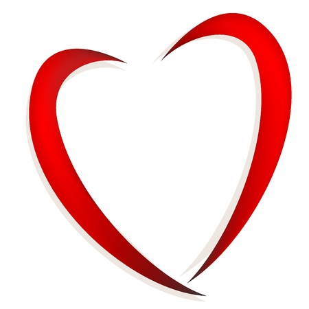 Abstract red heart vector Illustration