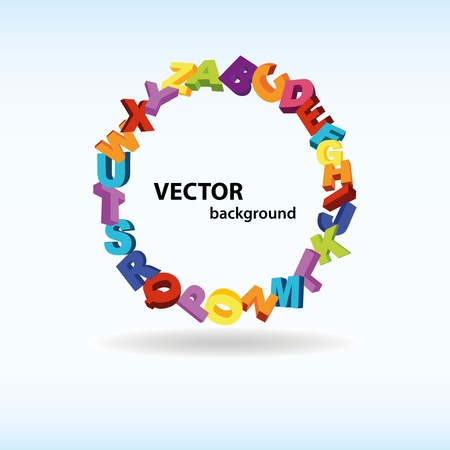 Abstract background with colorful letters Vector