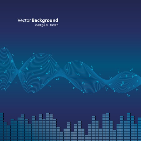 Notes music background Vector