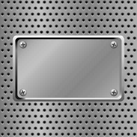 metalen plaat staal achtergrond Vector Illustratie