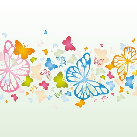 Colorful background with butterfly.  Иллюстрация