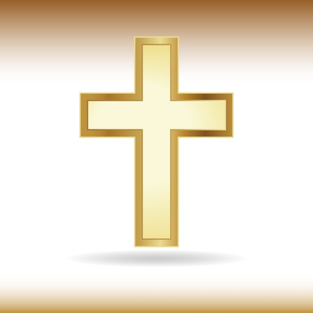 christian faith: Golden cross. Symbol of the Christian faith.