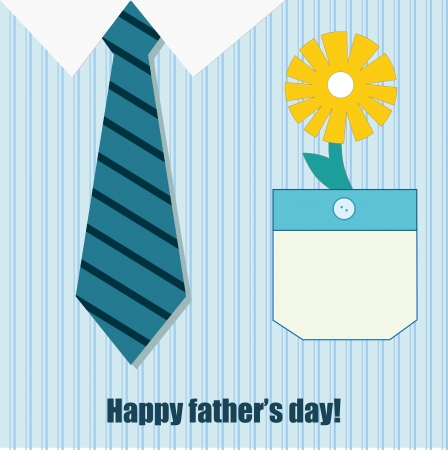 happy father day greeting card Vector