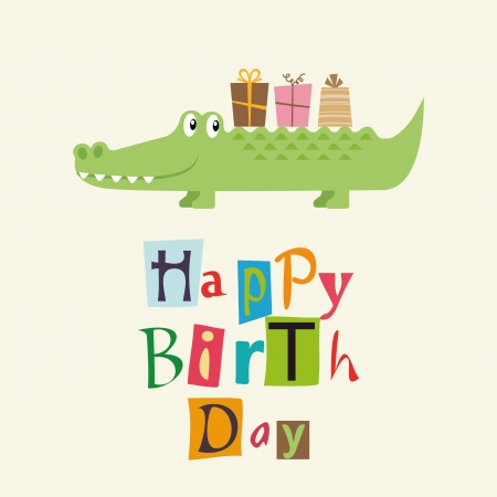 alligator: birhday card