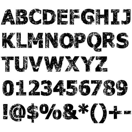 그런 전체 알파벳, 숫자 등의 문자 일러스트