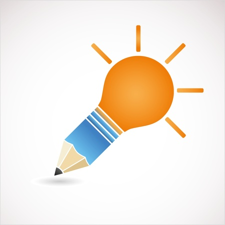 light bulb idea Ilustração