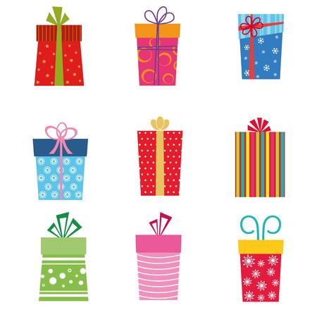 Collection of gifts Ilustração