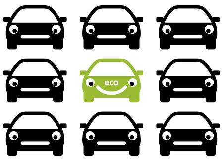 Ecology car friendly concept.