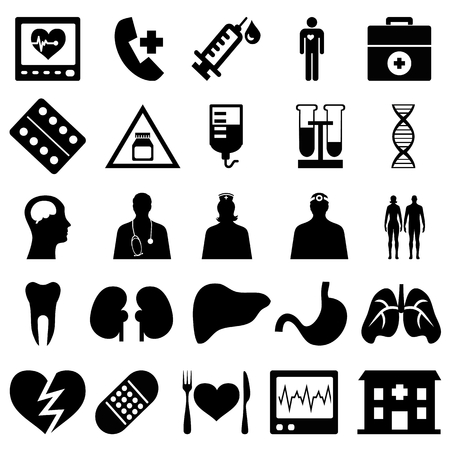 sticking: Collection of medical icons