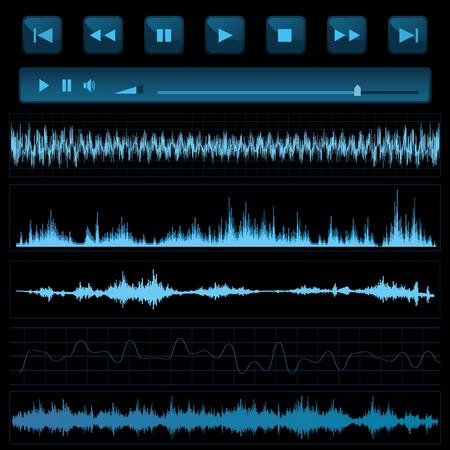 sound waves: Sound waves. Music background.