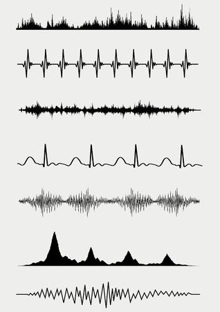 sonic: Sound waves set. Vector illustration