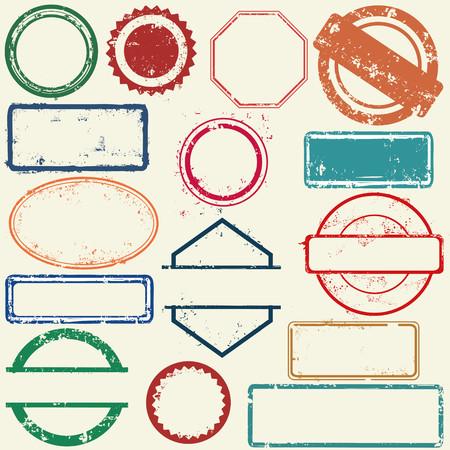 seal stamp: Stamps frames Illustration