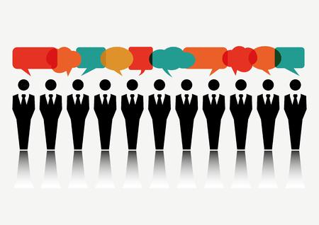 Groep van mensen uit het bedrijfsleven bespreken