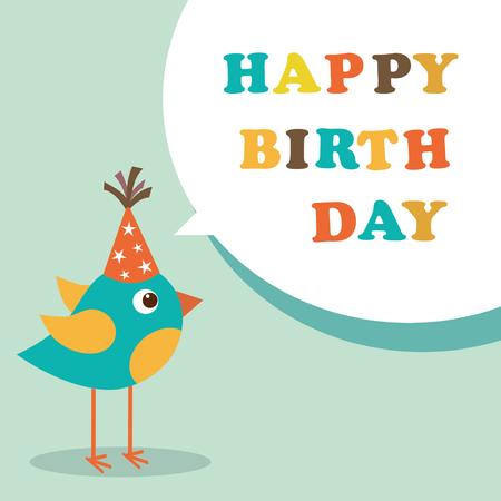 Happy birthday card Ilustração