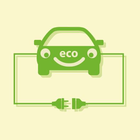 Eco car concept. Vector. Ilustração