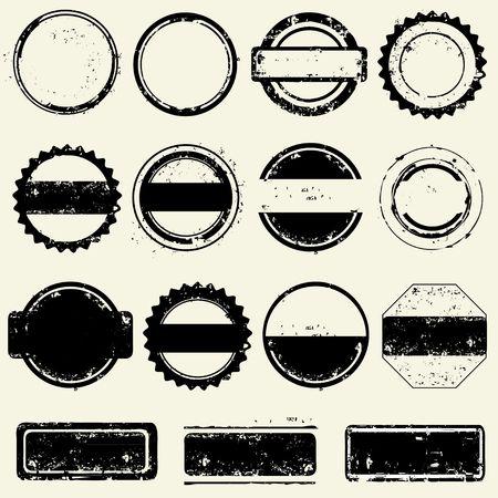 Collection of stamps frames Ilustração