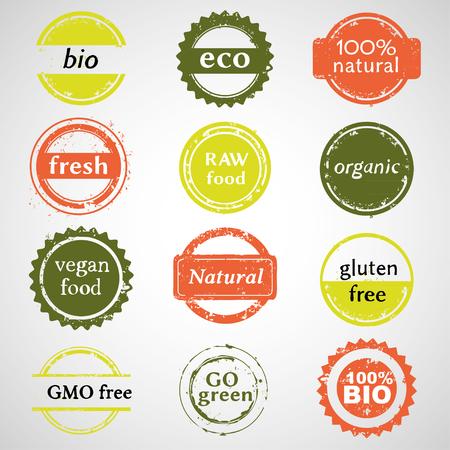 Eco And Bio Labels Collection Ilustração