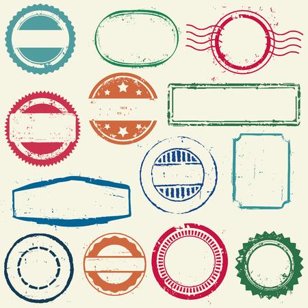 Stamps frames Ilustração