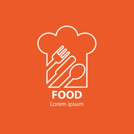 Modern minimalistic vector logo of food