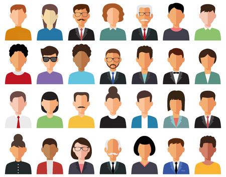 Business men and business women avatar icons. Ilustração