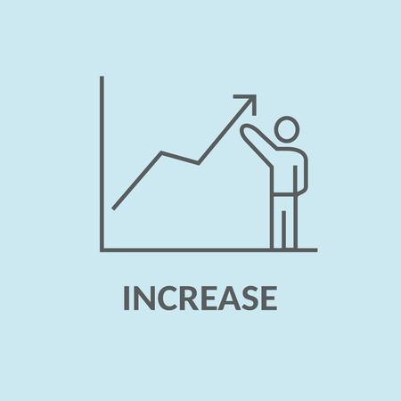 Make your income grow. Increase concept vector.