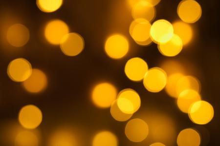 Abstract gold circular bokeh background