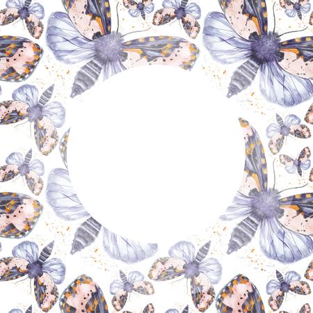 Gemalte Zeichnung Aquarell Shaggy Schmetterling Teddybär Nahtlose ...