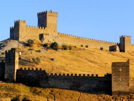 sudak: Ruins of The Genoa Fortress in Sudak, Crimea
