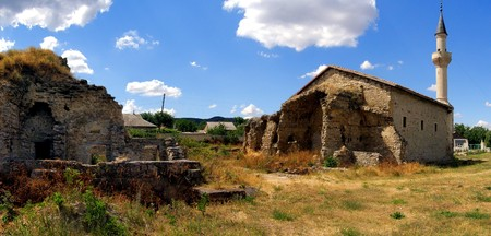 pano: Pano of the Uzbek Mosque and Old Madrasah Ruins