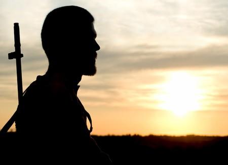 silhouette soldat: soldat
