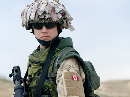 assault forces: canadian soldier Stock Photo
