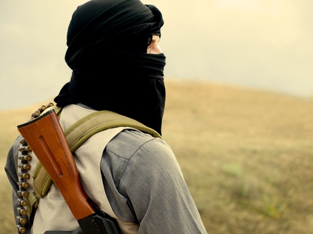 Militant musulman fusil