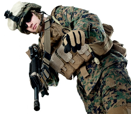 militant: US soldier with rifle