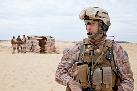 army soldier: desert checkpoint