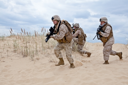 people force: military operation Stock Photo
