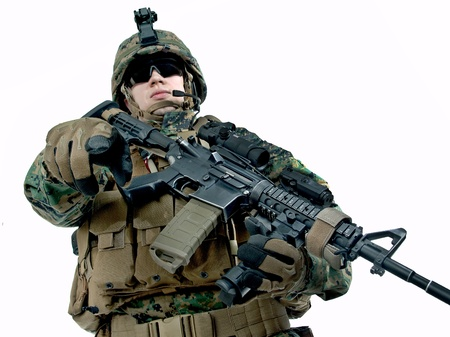 american soldier: Hey you  Stock Photo