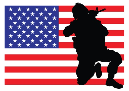 special forces: Protecting the flag Illustration