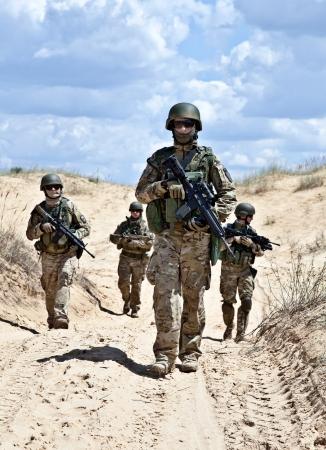 armed forces: Patroling the desert
