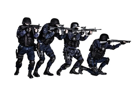 swat: Special weapons and tactics (SWAT) team in action