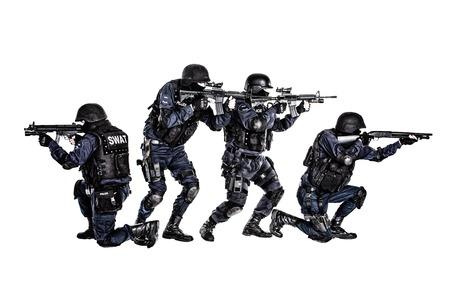 Spezielle Waffen und Taktiken (SWAT)-Team in Aktion Standard-Bild - 26215229