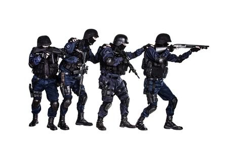 counterterrorism: Special weapons and tactics (SWAT) team in action