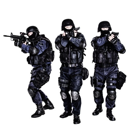 Special weapons and tactics (SWAT) team in action