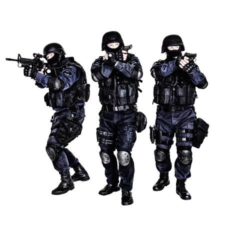 Spezielle Waffen und Taktiken (SWAT)-Team in Aktion Standard-Bild - 26215202