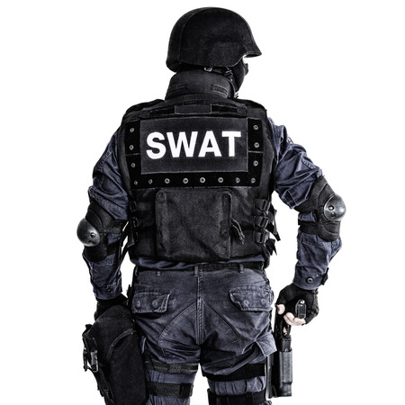counterterrorism: Special weapons and tactics (SWAT) team officer shot from behind