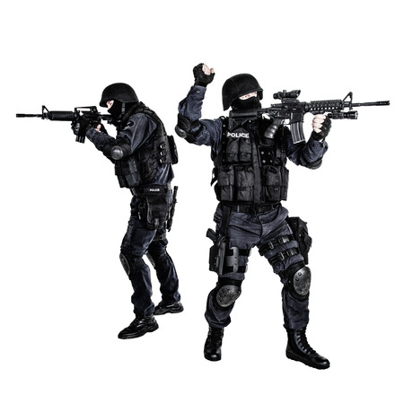 swat teams: Special weapons and tactics team in action